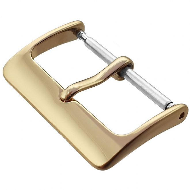 16mm Gold/Gilt Plated Stainless Steel Watch Strap Buckle | Battery Buddy